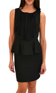 Alice + Olivia Kylie Ruffled Peplum Dress